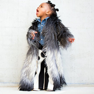 Blanco Noir Snow Faux Fur Coat *Limited* - KingandLola