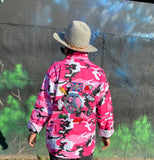 Pink Camo Camouflage Jacket with or without Patches