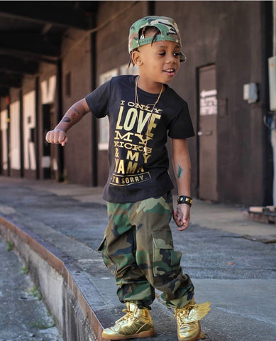 Kids Camouflage Army Fatigue pants