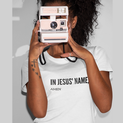 Short Sleeve T-Shirt Tank - In Jesus Name Amen - KingandLola