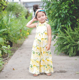 Summer Lemons PalazzoJumpsuit for Toddler/Kids by King and Lola