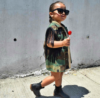 Camouflage Vest Toddler-Kids size 2T to 12 - KingandLola