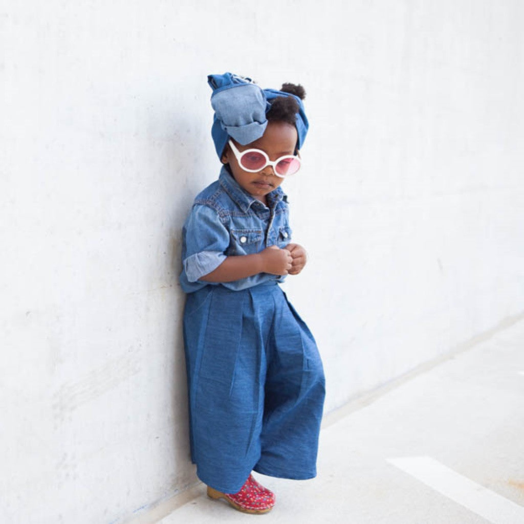 High Style + Waist Wide Leg Denim