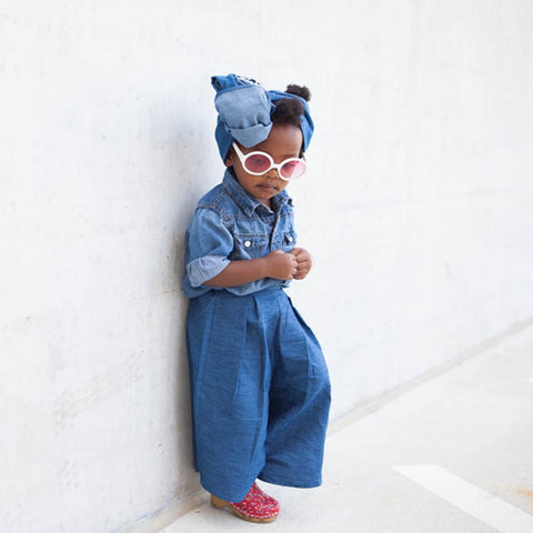 High Style + Waist Wide Leg Denim for toddler by King+ Lola Kids