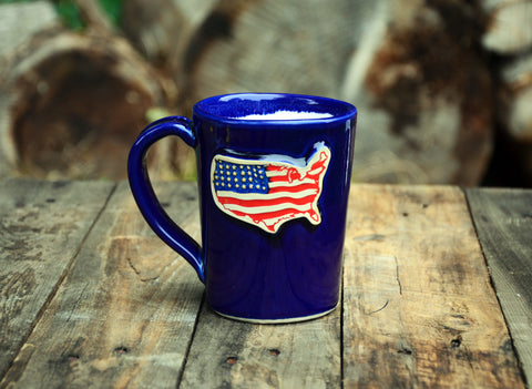 USA Flag Handmade Mug