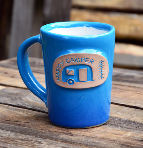 Happy Camper Handmade Mug