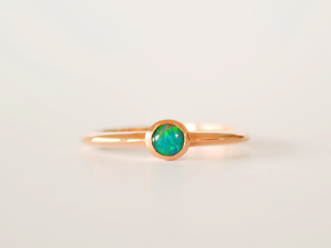 Boulder Opal Ring Yellow Gold