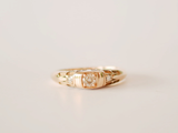 Deco Ring Yellow Gold with Diamonds