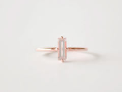 Nadia Ring Rose Gold with Rose Quartz
