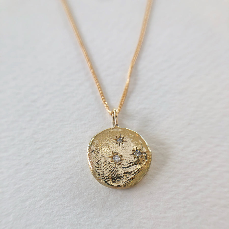Infinite Currency Necklace 9ct Gold with Diamonds
