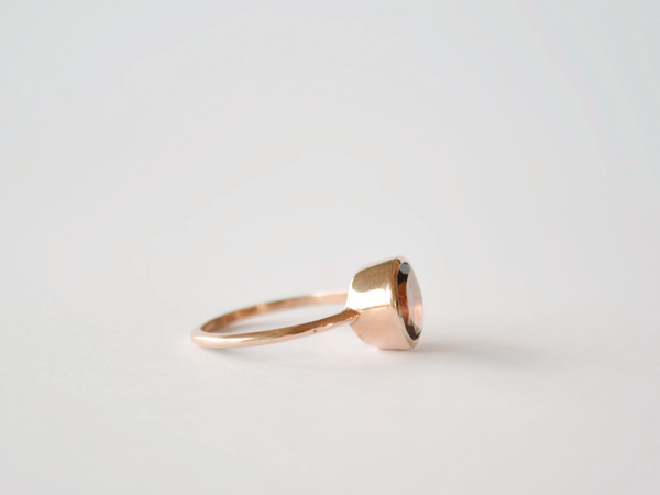 Billie Ring Yellow Gold with Smokey Quartz