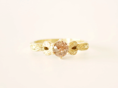 Mary-Anne Ring Yellow Gold with Champagne Zircon
