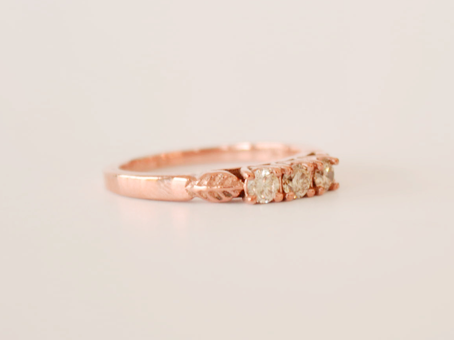 Ella Ring Rose Gold with Diamonds