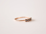 Florence Ring 9ct Gold with Black Diamonds
