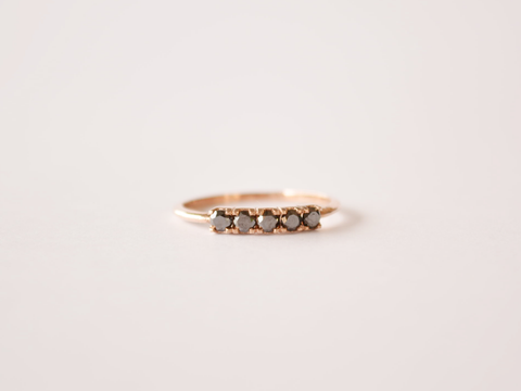 Sadie Ring 9ct Gold with Black Diamonds