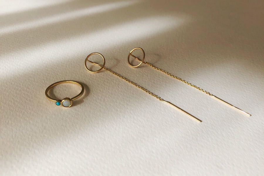 9ct Circle Thread Earrings
