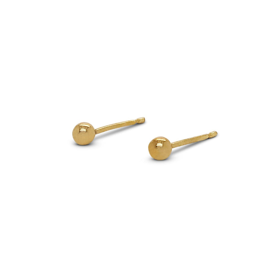 9ct Yellow Gold Round Ball Studs