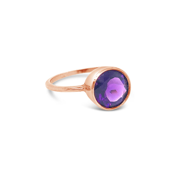 Billie Ring Rose Gold with Amethyst