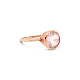 Billie Ring Rose Gold with Rose Quartz