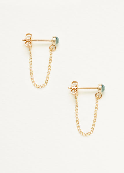 Swiss Blue Topaz Chain Earrings