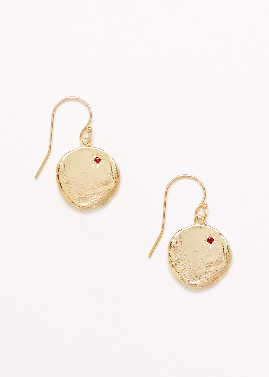 Currency of Hands Earrings Gold