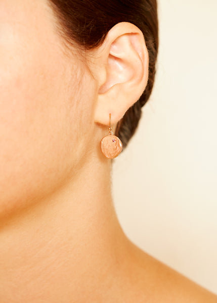Currency of Hands Earrings Rose Gold