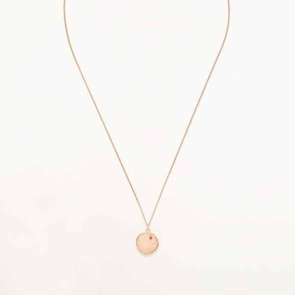 Currency of Hands Necklace Rose Gold