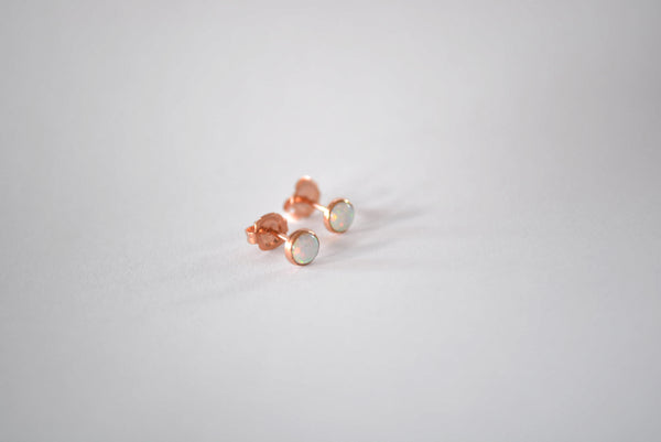 Opal Simple Studs Rose Gold