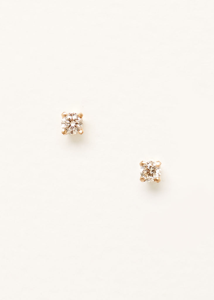 a57754580 ... A front on image of a pair of 9ct yellow gold stud earrings with small  diamonds