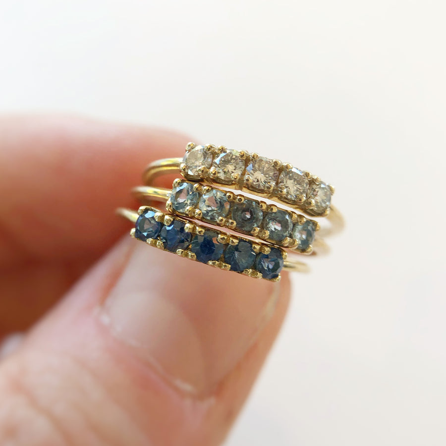 Florence Ring 9ct Gold with Aquamarine