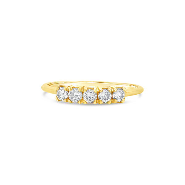 Florence Ring 9ct Gold with Champagne Diamonds