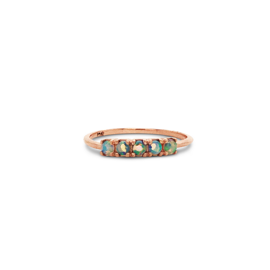 Florence Ring 9ct Gold with Opal