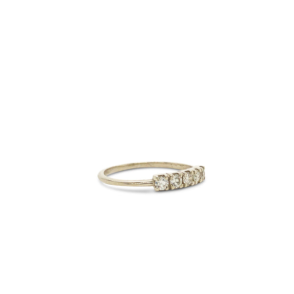 Florence Ring 9ct Gold with White Diamonds