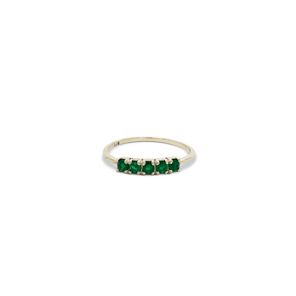 Florence Ring 9ct Gold with Natural Emeralds