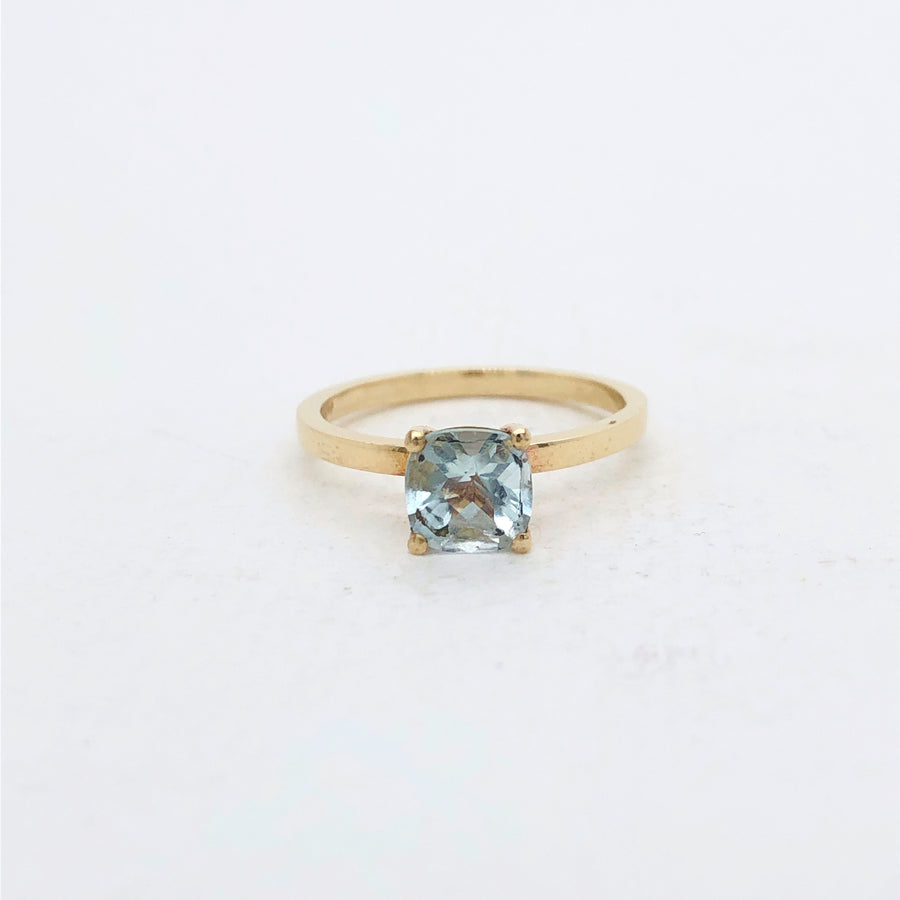 Frances Ring Yellow Gold with Aquamarine