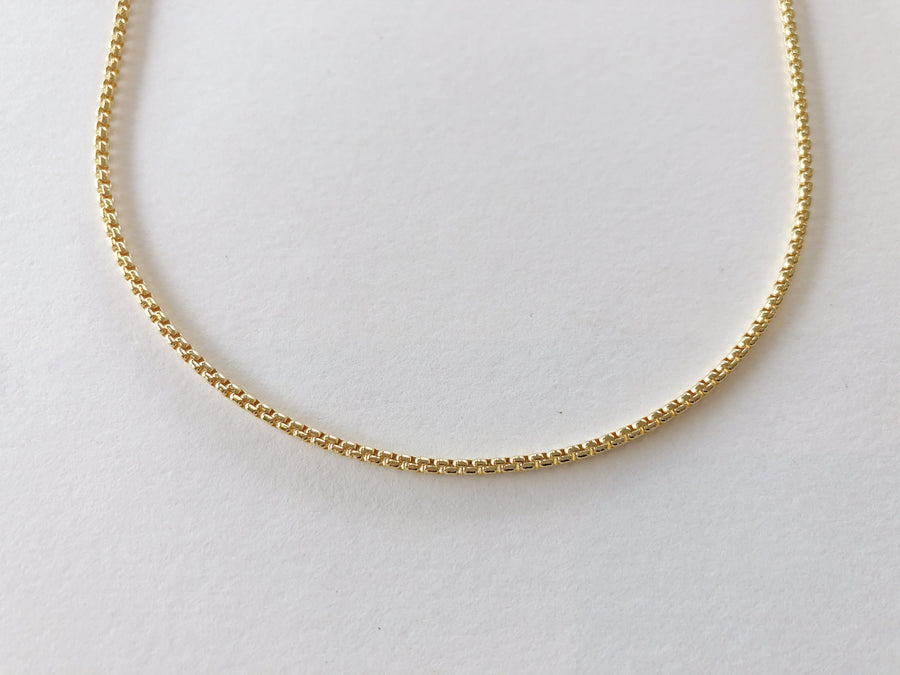 Box Chain Necklace Gold