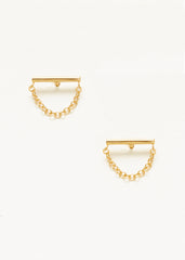 Bar Chain Studs - Gold