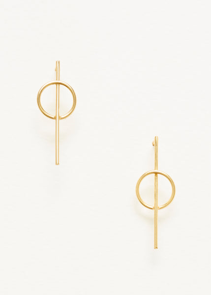 Intersecting Circle Earrings - Gold