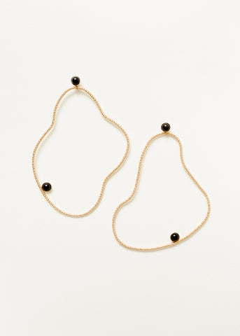 Organic Abstraction Earrings - Gold