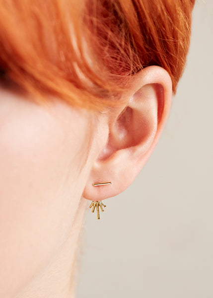 Starburst Jacket Earrings - Gold