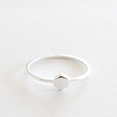 Hex Stack Ring - Silver