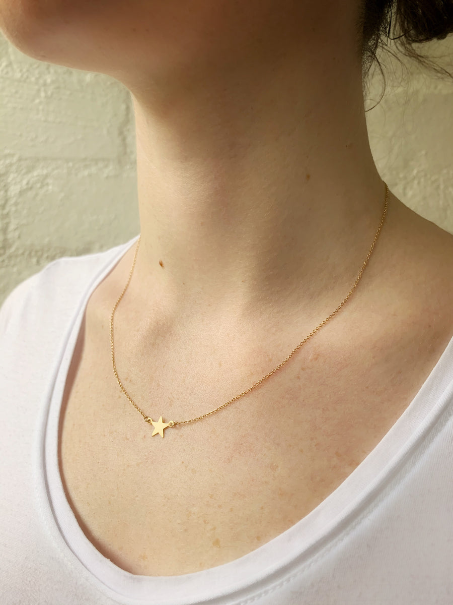 14ct Gold Star Necklace