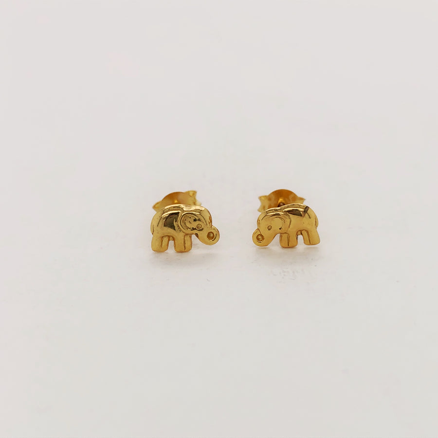 Little - Elephant Studs - Gold