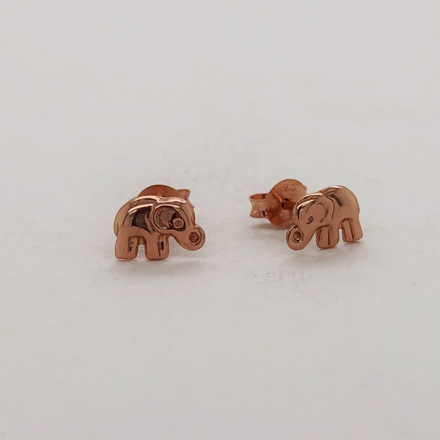Little - Elephant Studs - Rose Gold