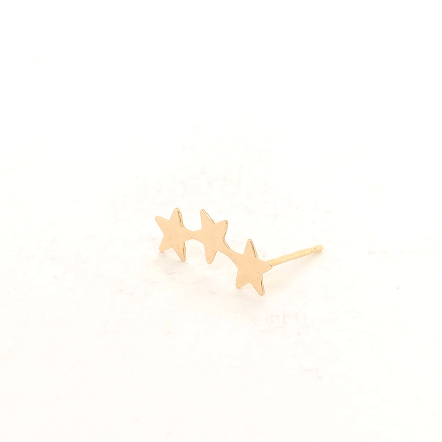 Ear Climber 14ct Gold - Single