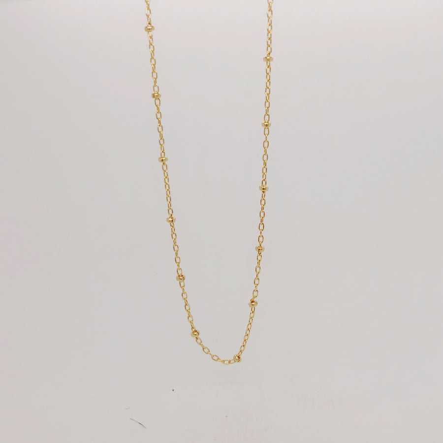 Dotted Chain Necklace Gold Filled
