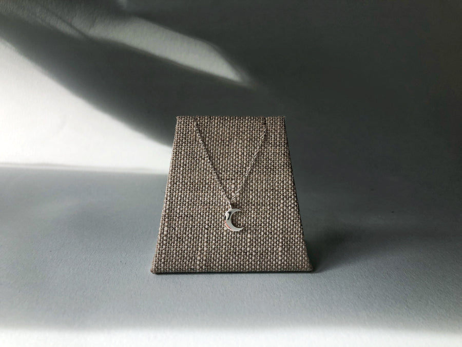 Little - Moon Necklace - Sterling Silver
