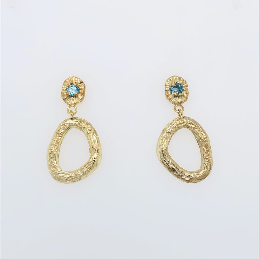 Royale Earrings Gold with Topaz