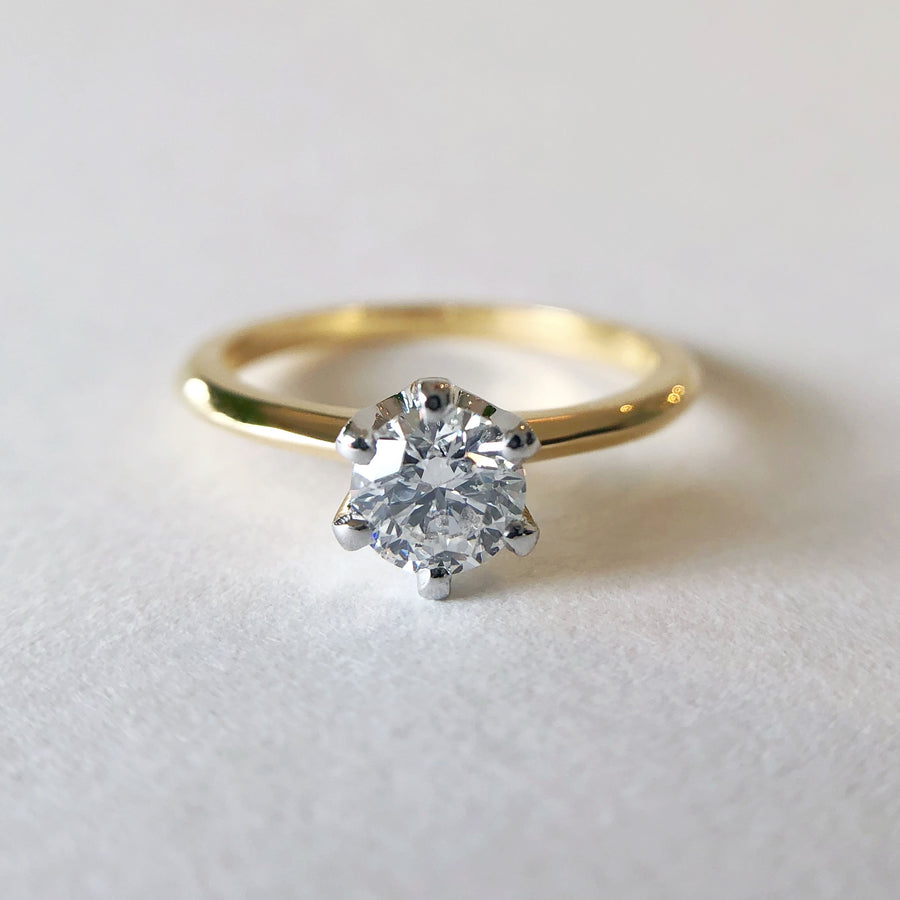 Lila Solitaire Diamond Ring in Yellow Gold