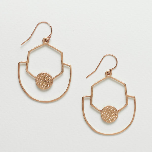 Sahara Earrings - Rose Gold